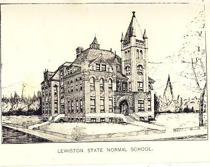 Lewiston Normal School Building Illustration