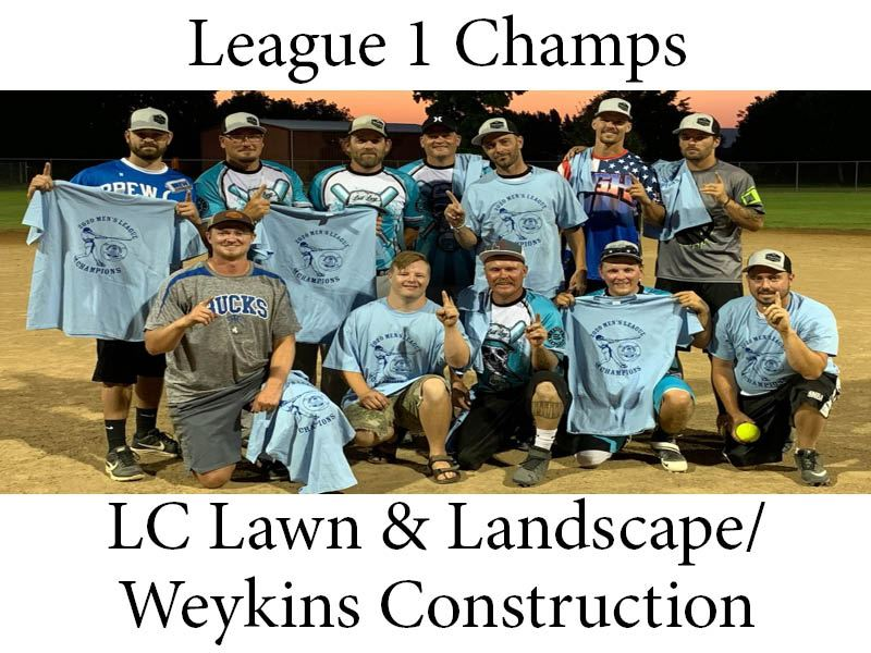 2020 Mens League 1 Champs