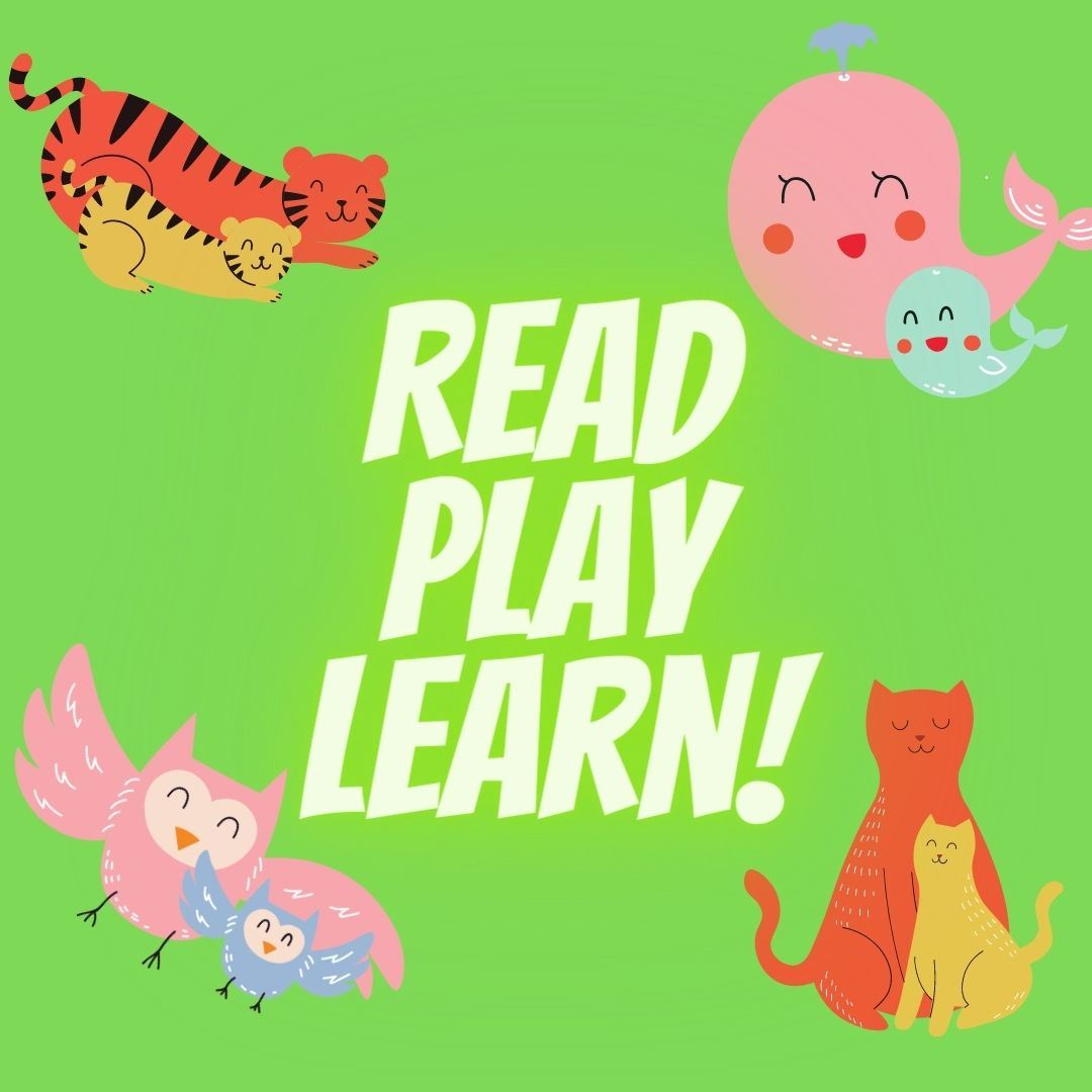 Read Play Learn with tigers, cats, owls, and whales