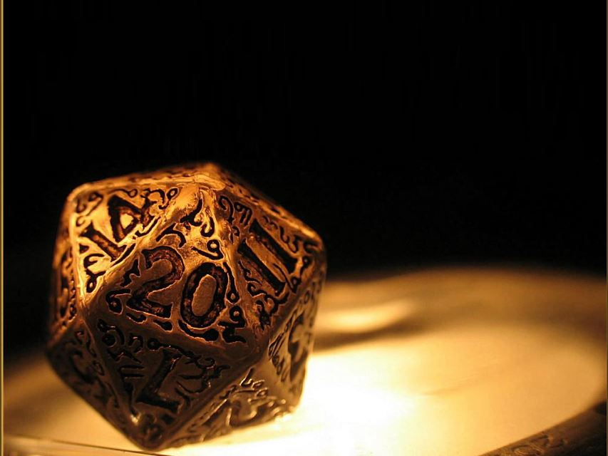 Dungeons and Dragons 20-sided dice