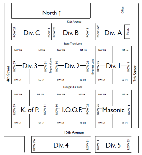 Cemetery Plot Map