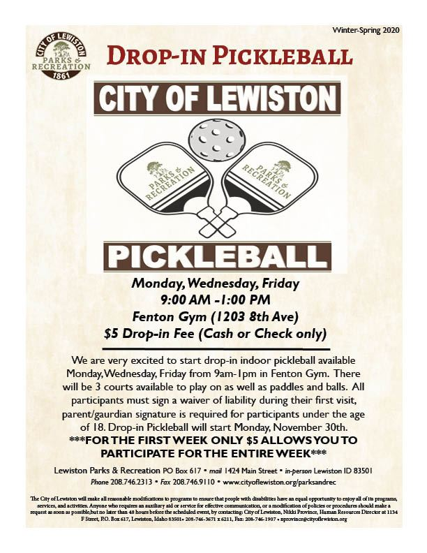 Drop In Pickleball